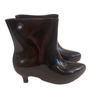 Jeremy Scott + Melissa PVC Ankle Boots Black 7